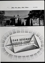Page 15, 1948 Edition, Hanover College - Revonah Yearbook (Hanover, IN) online yearbook collection