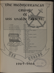 Page 5, 1966 Edition, Uvalde (AKA 88) - Naval Cruise Book online yearbook collection
