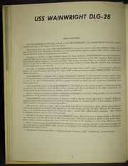Page 8, 1967 Edition, Wainwright (DLG 28) - Naval Cruise Book online yearbook collection