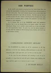 Page 8, 1962 Edition, Washburn (AKA 108) - Naval Cruise Book online yearbook collection