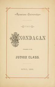 Page 11, 1886 Edition, Syracuse University - Onondagan Yearbook (Syracuse, NY) online yearbook collection