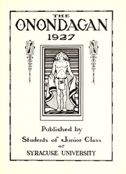 Page 7, 1927 Edition, Syracuse University - Onondagan Yearbook (Syracuse, NY) online yearbook collection