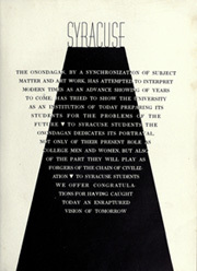 Page 9, 1937 Edition, Syracuse University - Onondagan Yearbook (Syracuse, NY) online yearbook collection