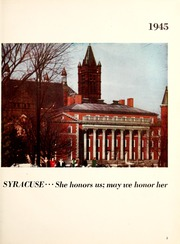 Page 9, 1945 Edition, Syracuse University - Onondagan Yearbook (Syracuse, NY) online yearbook collection