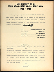 Page 7, 1966 Edition, Hunley (AS 31) - Naval Cruise Book online yearbook collection