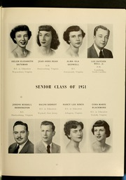 Page 17, 1951 Edition, James Madison University - Bluestone Schoolmaam Yearbook (Harrisonburg, VA) online yearbook collection