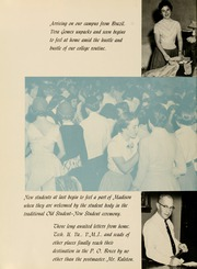 Page 12, 1956 Edition, James Madison University - Bluestone Schoolmaam Yearbook (Harrisonburg, VA) online yearbook collection