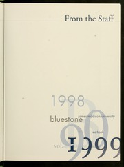 Page 11, 1999 Edition, James Madison University - Bluestone Schoolmaam Yearbook (Harrisonburg, VA) online yearbook collection