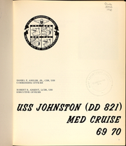 Page 5, 1970 Edition, Johnston (DD 821) - Naval Cruise Book online yearbook collection
