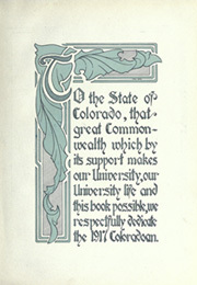 Page 11, 1917 Edition, University of Colorado - Coloradan Yearbook (Boulder, CO) online yearbook collection