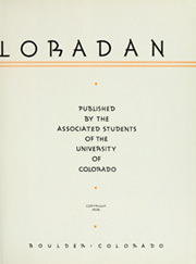 Page 9, 1936 Edition, University of Colorado - Coloradan Yearbook (Boulder, CO) online yearbook collection