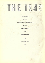 Page 6, 1942 Edition, University of Colorado - Coloradan Yearbook (Boulder, CO) online yearbook collection