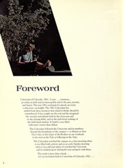 Page 8, 1962 Edition, University of Colorado - Coloradan Yearbook (Boulder, CO) online yearbook collection