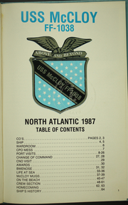 Page 5, 1987 Edition, McCloy (FF 1038) - Naval Cruise Book online yearbook collection