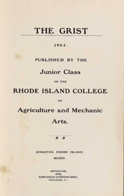 Page 9, 1904 Edition, University of Rhode Island - Grist Yearbook (Kingston, RI) online yearbook collection