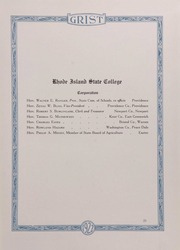 Page 11, 1922 Edition, University of Rhode Island - Grist Yearbook (Kingston, RI) online yearbook collection