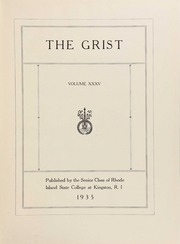 Page 9, 1935 Edition, University of Rhode Island - Grist Yearbook (Kingston, RI) online yearbook collection