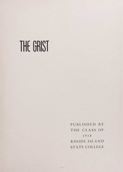 Page 7, 1938 Edition, University of Rhode Island - Grist Yearbook (Kingston, RI) online yearbook collection