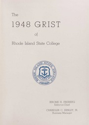 Page 5, 1948 Edition, University of Rhode Island - Grist Yearbook (Kingston, RI) online yearbook collection