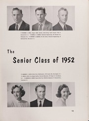 Page 17, 1952 Edition, University of Rhode Island - Grist Yearbook (Kingston, RI) online yearbook collection