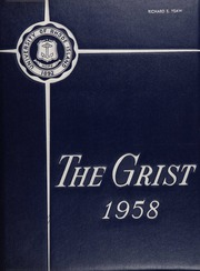 1958 Edition, University of Rhode Island - Grist Yearbook (Kingston, RI)