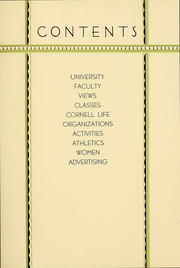 Page 12, 1931 Edition, Cornell University - Cornellian Yearbook (Ithaca, NY) online yearbook collection