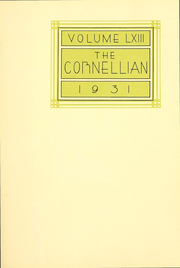 Page 4, 1931 Edition, Cornell University - Cornellian Yearbook (Ithaca, NY) online yearbook collection