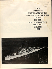 Page 3, 1981 Edition, Davis (DD 937) - Naval Cruise Book online yearbook collection