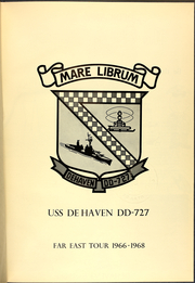 Page 5, 1968 Edition, DeHaven (DD 727) - Naval Cruise Book online yearbook collection