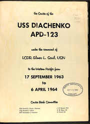 Page 3, 1964 Edition, Diachenko (APD 123) - Naval Cruise Book online yearbook collection
