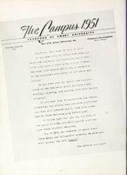 Page 10, 1951 Edition, Emory University - Campus Yearbook (Atlanta, GA) online yearbook collection