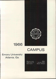 Page 7, 1966 Edition, Emory University - Campus Yearbook (Atlanta, GA) online yearbook collection