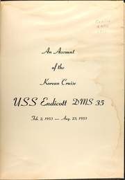 Page 3, 1953 Edition, Endicott (DMS 35) - Naval Cruise Book online yearbook collection