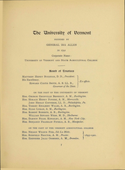 Page 9, 1901 Edition, University of Vermont - Ariel Yearbook (Burlington, VT) online yearbook collection