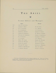 Page 9, 1903 Edition, University of Vermont - Ariel Yearbook (Burlington, VT) online yearbook collection