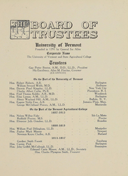 Page 10, 1914 Edition, University of Vermont - Ariel Yearbook (Burlington, VT) online yearbook collection
