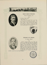 Page 17, 1915 Edition, University of Vermont - Ariel Yearbook (Burlington, VT) online yearbook collection