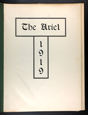 Page 5, 1919 Edition, University of Vermont - Ariel Yearbook (Burlington, VT) online yearbook collection