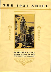 Page 6, 1931 Edition, University of Vermont - Ariel Yearbook (Burlington, VT) online yearbook collection