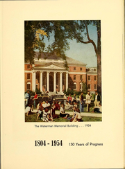 Page 10, 1954 Edition, University of Vermont - Ariel Yearbook (Burlington, VT) online yearbook collection