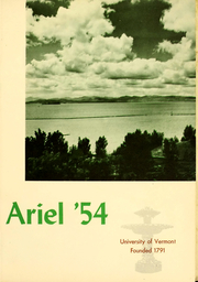 Page 2, 1954 Edition, University of Vermont - Ariel Yearbook (Burlington, VT) online yearbook collection