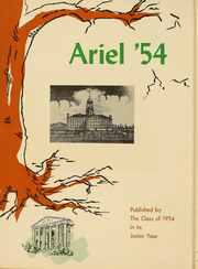 Page 3, 1954 Edition, University of Vermont - Ariel Yearbook (Burlington, VT) online yearbook collection