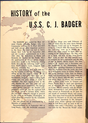 Page 6, 1954 Edition, Charles J Badger (DD 657) - Naval Cruise Book online yearbook collection
