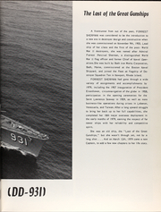 Page 7, 1980 Edition, Forrest Sherman (DD 931) - Naval Cruise Book online yearbook collection