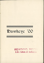 Page 5, 1900 Edition, University of Iowa - Hawkeye Yearbook (Iowa City, IA) online yearbook collection