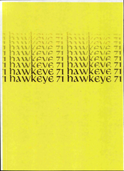 1971 Edition, University of Iowa - Hawkeye Yearbook (Iowa City, IA)