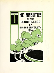 Page 7, 1914 Edition, Indiana University - Arbutus Yearbook (Bloomington, IN) online yearbook collection
