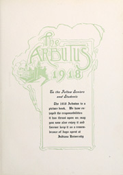 Page 9, 1918 Edition, Indiana University - Arbutus Yearbook (Bloomington, IN) online yearbook collection