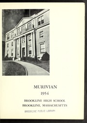 Page 5, 1954 Edition, Brookline High School - Murivian Yearbook (Brookline, MA) online yearbook collection