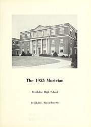 Page 5, 1955 Edition, Brookline High School - Murivian Yearbook (Brookline, MA) online yearbook collection